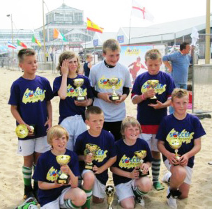 Gorleston rangers Under 11 soccer On The Sands 2010 winners