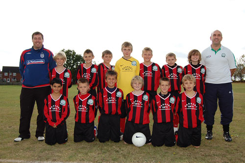 The Under 11a team Away Kit