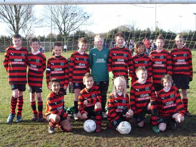The Under 12a team