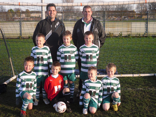 The Gorleston Rangers U7A team