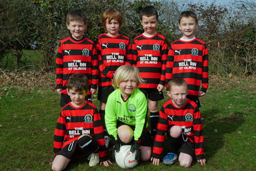 The under 7c team away kit