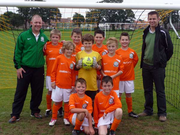 The Under 10c Team in their away strip