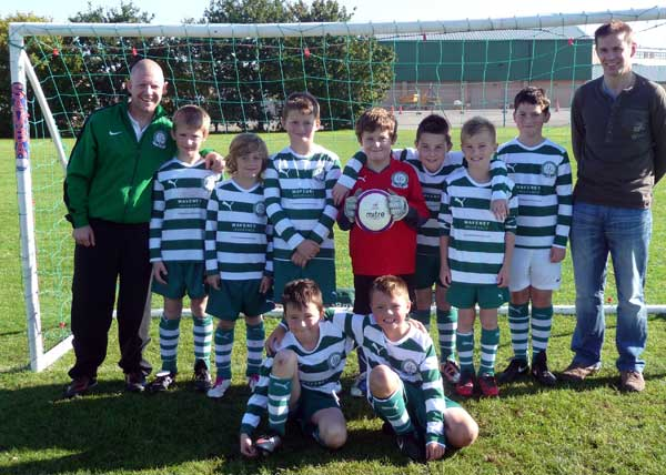 The Under 10c team in their home kit