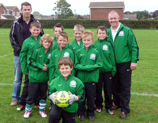 The Under 10c team in their tracksuits