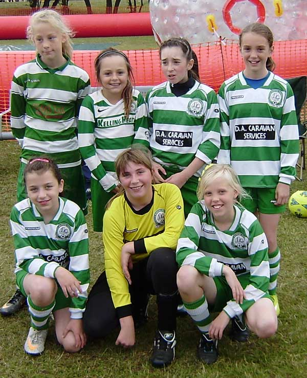 The under 11 Girls at the GRFC Tournament 2011