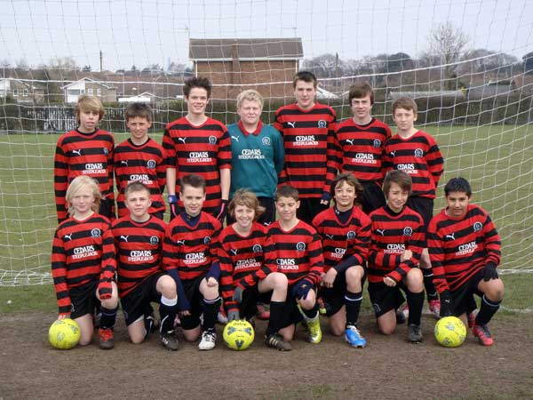 The Under 13a team in their away kit