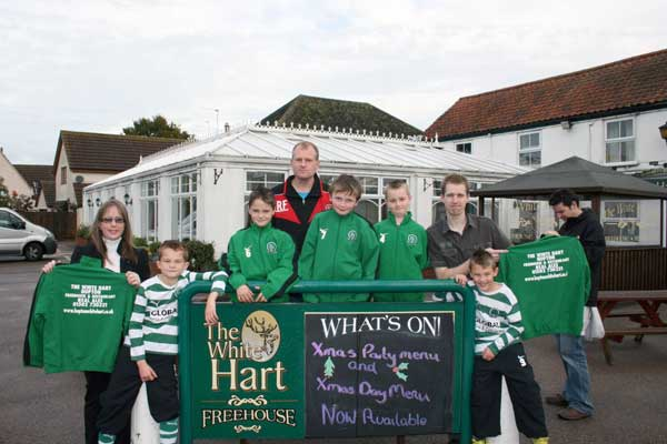 The Under 9c team are sponsored by The Whit Hart Hopton