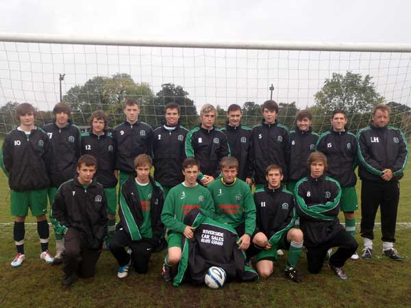 Gorlestonm Rangers U16 Eagles in their Rainjackets
