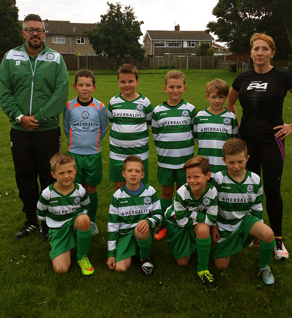 The under 8 Falcons team