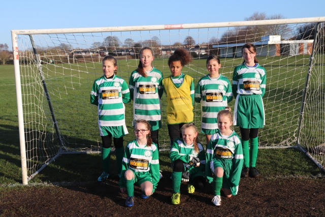 U11 Girls Eagles team a