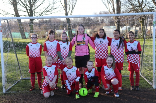 U11 Girls Falcons team