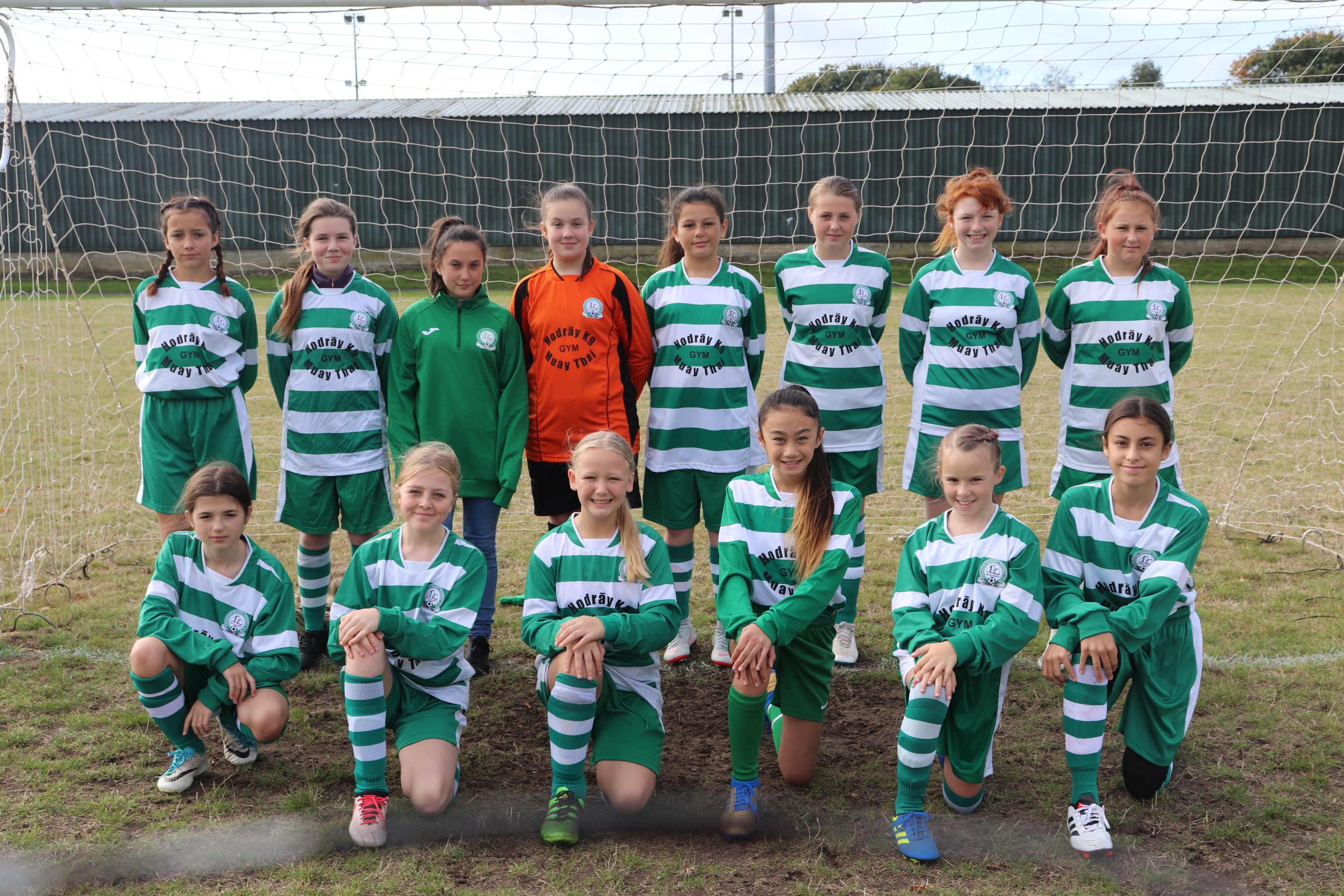 U13 Girls Falcon team pic